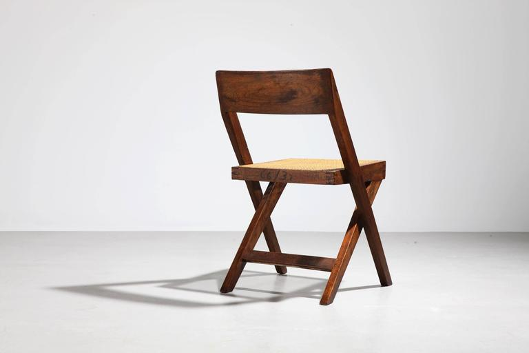 Mid-Century Modern Pierre Jeanneret, Library Chair, circa 1959-1960 For Sale