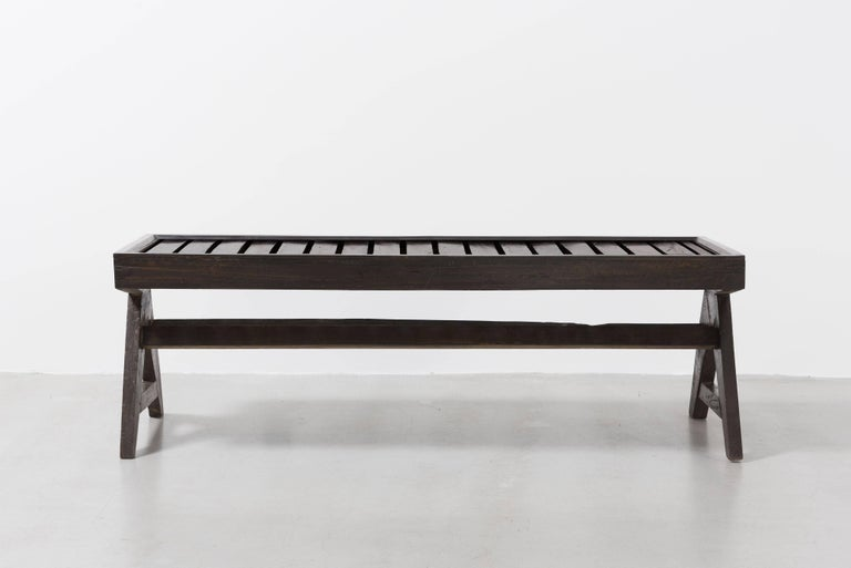 Pierre Jeanneret, Bench with Slats, circa 1955-1956 2