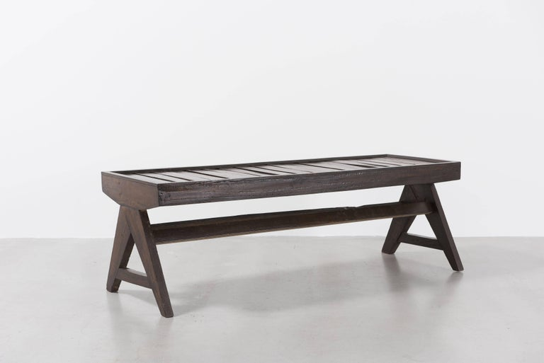 Pierre Jeanneret, Bench with Slats, circa 1955-1956 3