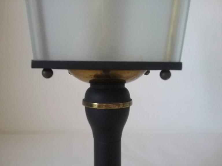 1950s french table lamp parisian old street light by for Chair table lamp yonge st