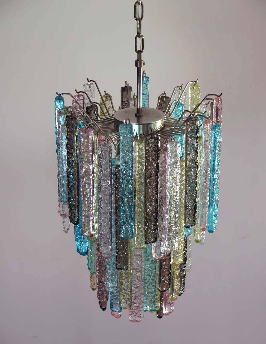Huge murano chandelier multi color 84 prism in venini style for sale huge murano chandelier multi color 84 prism in venini style for sale at 1stdibs aloadofball Gallery