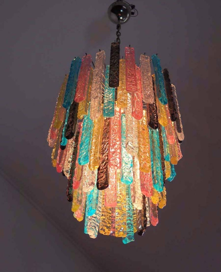 Murano Prism Chandelier: Huge Murano Chandelier Multi-Color-84 Prism In Venini