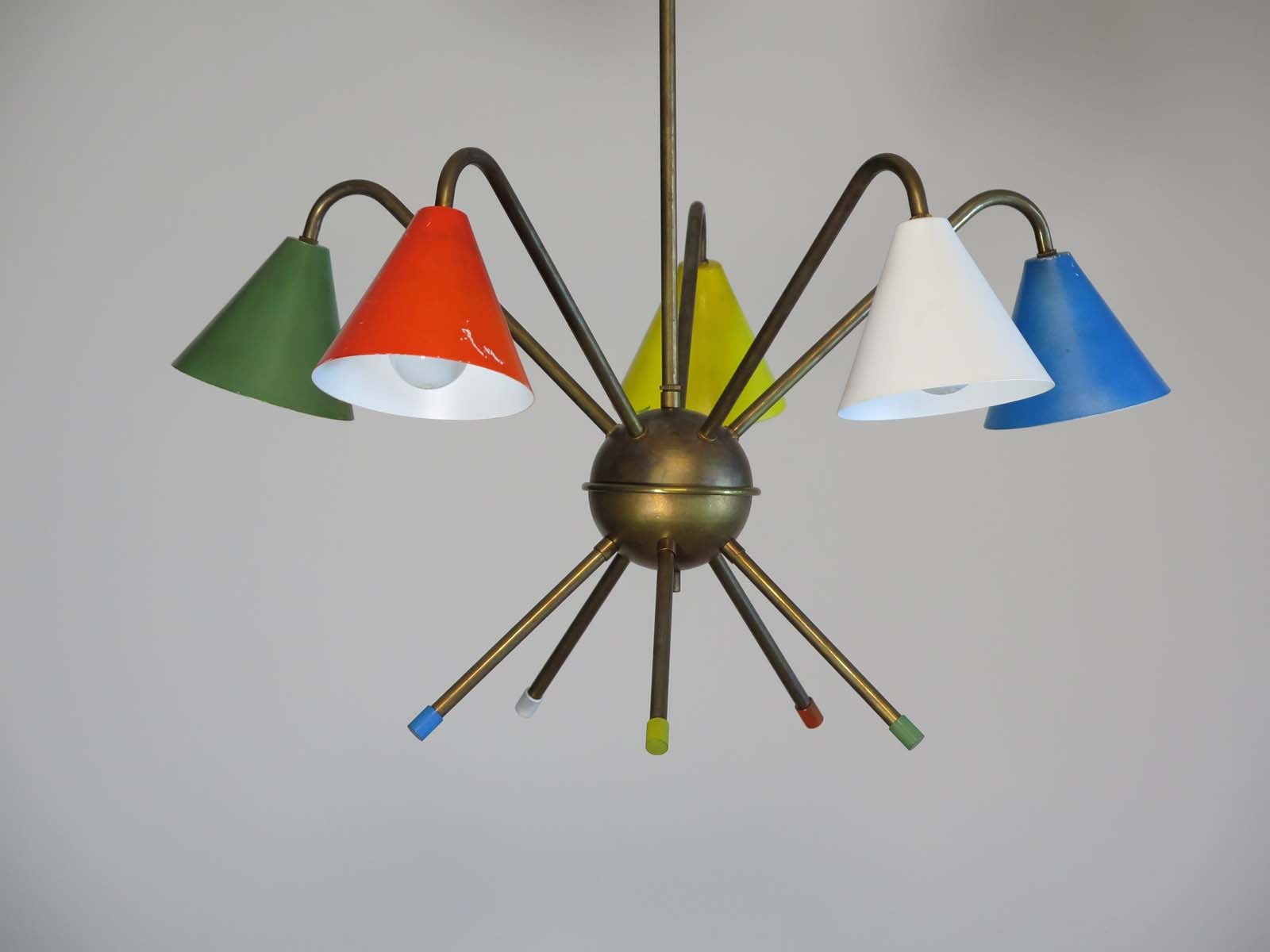 1950s italian atomic chandelier in the style of angelo lelli five 1950s italian atomic chandelier in the style of angelo lelli five cups for sale at 1stdibs arubaitofo Image collections