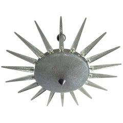 Exceptional Murano Glass Pendant Sputnik Chandelier