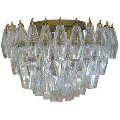 Elegant Murano Poliedri Ceiling Light, Carlo Scarpa