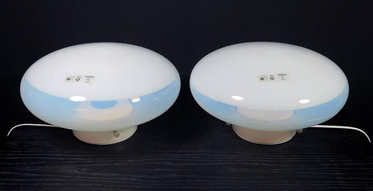 Mid-Century Modern Pair of Gill Lamps by Roberto Pamio for Leucos, 1962