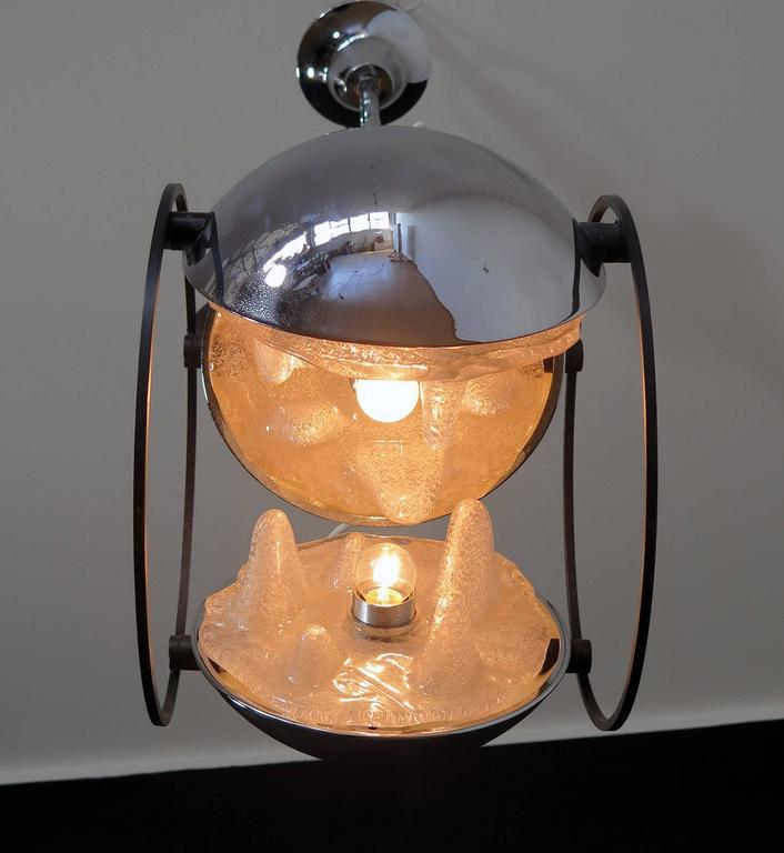 1970s Space Age Chandelier by Mazzega, Murano Glass, Carlo Nason Attributed 4