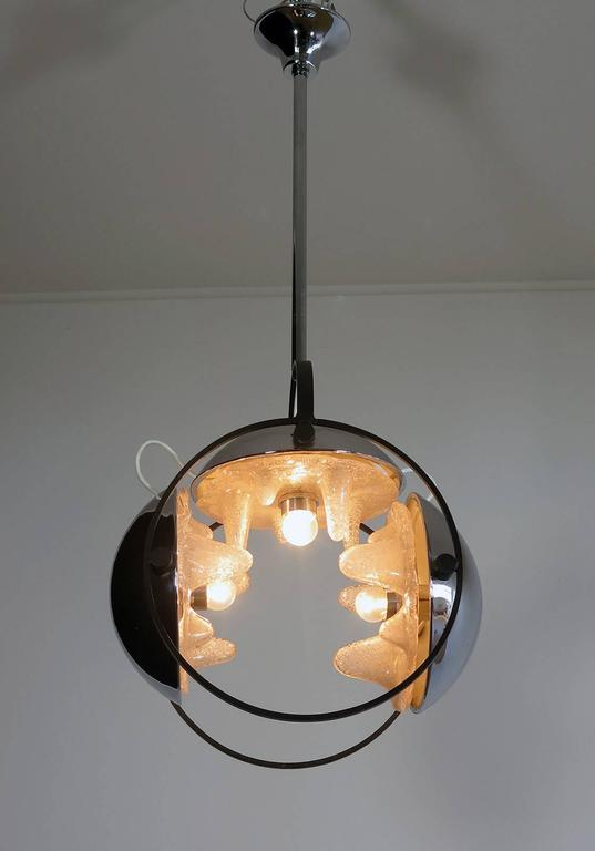 1970s Space Age Chandelier by Mazzega, Murano Glass, Carlo Nason Attributed 3