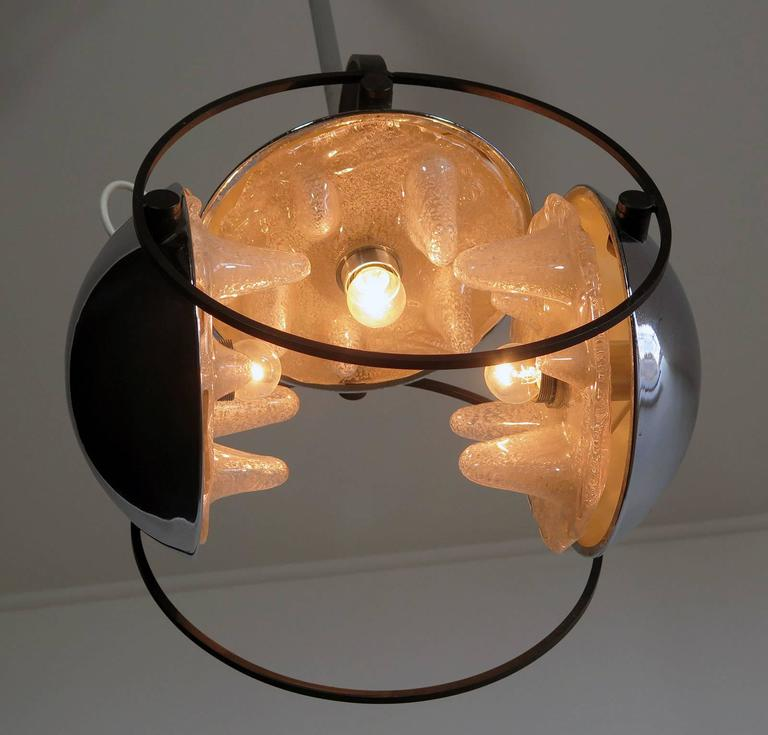 1970s Space Age Chandelier by Mazzega, Murano Glass, Carlo Nason Attributed 8