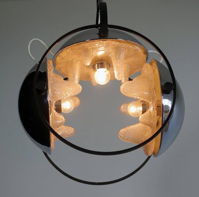 1970s Space Age Chandelier by Mazzega, Murano Glass, Carlo Nason Attributed 9