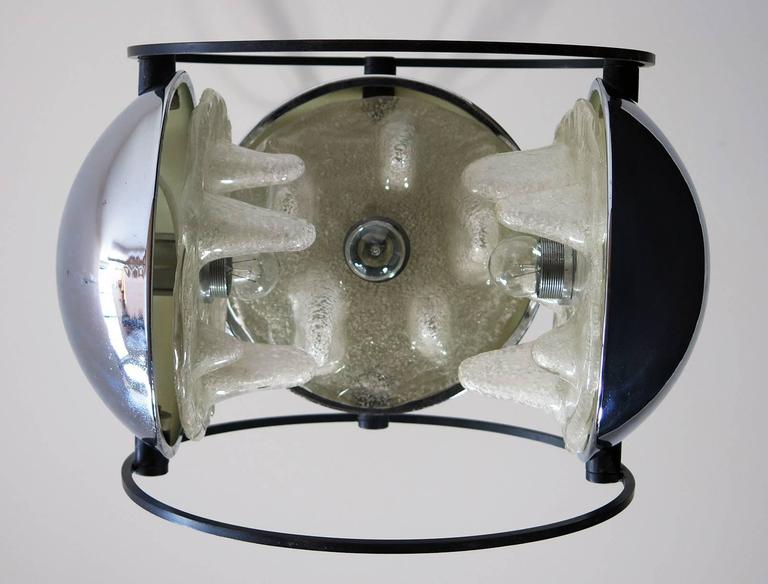 1970s Space Age Chandelier by Mazzega, Murano Glass, Carlo Nason Attributed 10