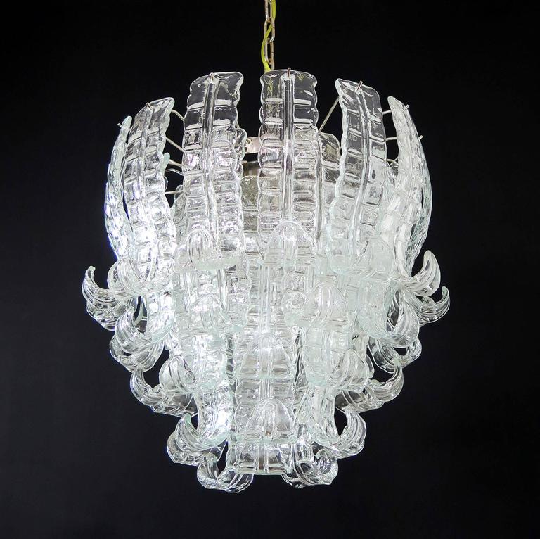 Italian murano six tier felci glass chandelier by barovier e toso beautiful and huge italian murano chandelier composed of 41 splendid transparent glasses that give a very aloadofball