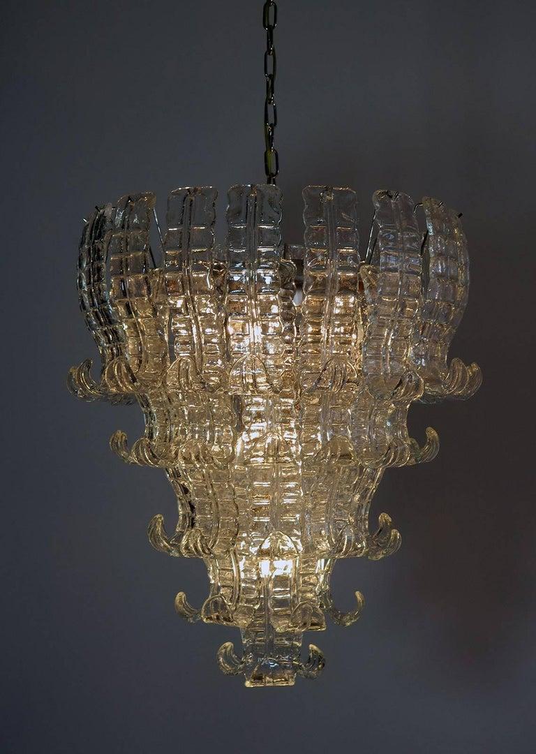 Italian Murano Six-Tier Felci Glass Chandelier, 52 Glasses 1