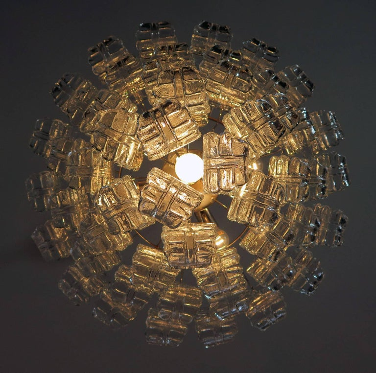 Italian Murano Six-Tier Felci Glass Chandelier, 52 Glasses 4