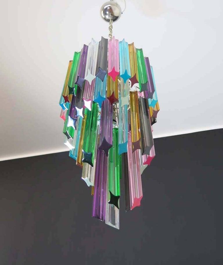 Murano Chandelier Color: Murano Chandelier Multi-Color, 54 Quadriedri Prism