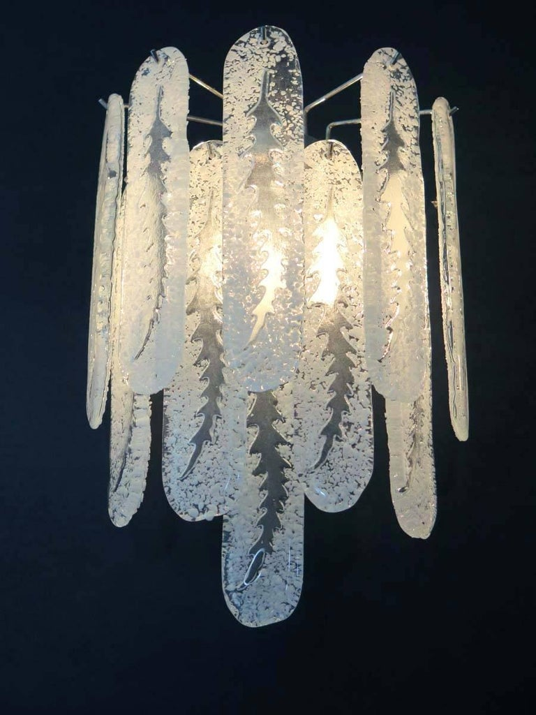 Pair of Vintage Murano Wall Sconce by Mazzega In Good Condition In Gaiarine Frazione Francenigo (TV), IT