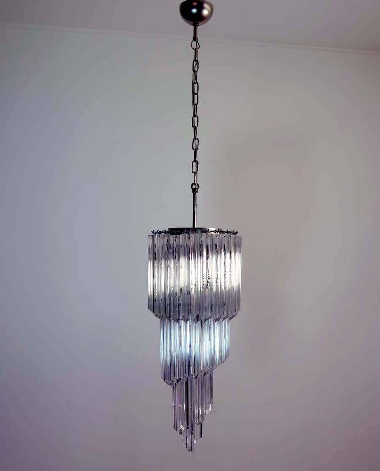 Murano Prism Chandelier: Murano Big Chandelier In The Manner Of Venini, 54