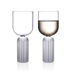 Pair of Czech Contemporary May Medium Glasses Handmade, in Stock