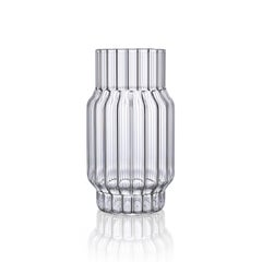 Contemporary Czech Glass Albany Medium Fluted Vase Handcrafted, in Stock