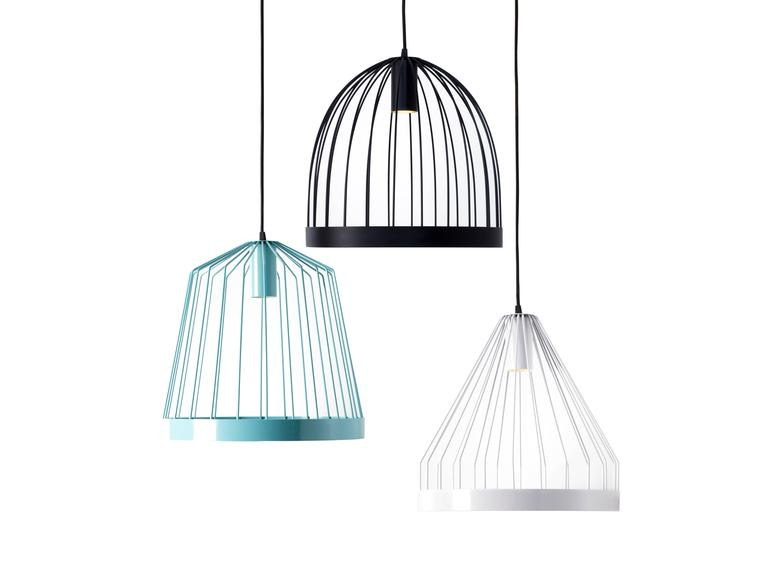 Modern UL Contemporary Concealed Led Black Steel Pendant Light, USA, In Stock Shape