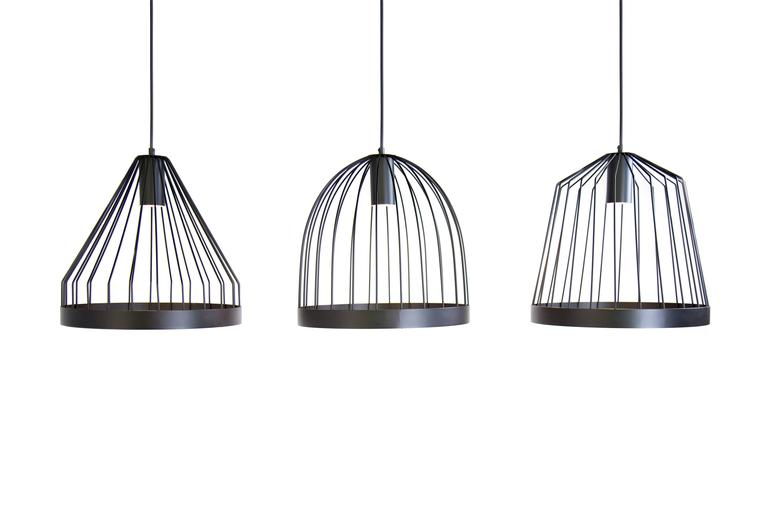 American UL Contemporary Concealed Led Black Steel Pendant Light, USA, In Stock Shape