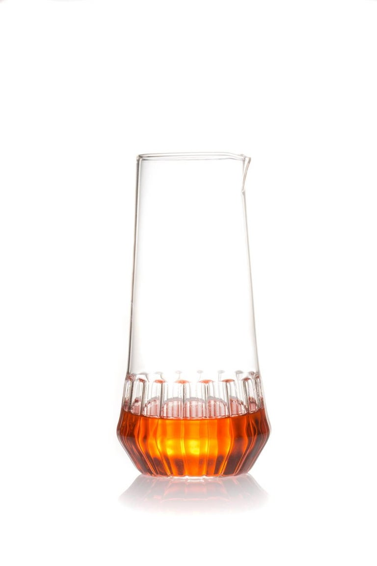 This set includes one MixedCarafe and six Mixed Small Glasses.   With a special technique, the modern Mixed Collection combines two types of glass to create this modern collection. Retro yet contemporary it is perfect for everyday beverages,