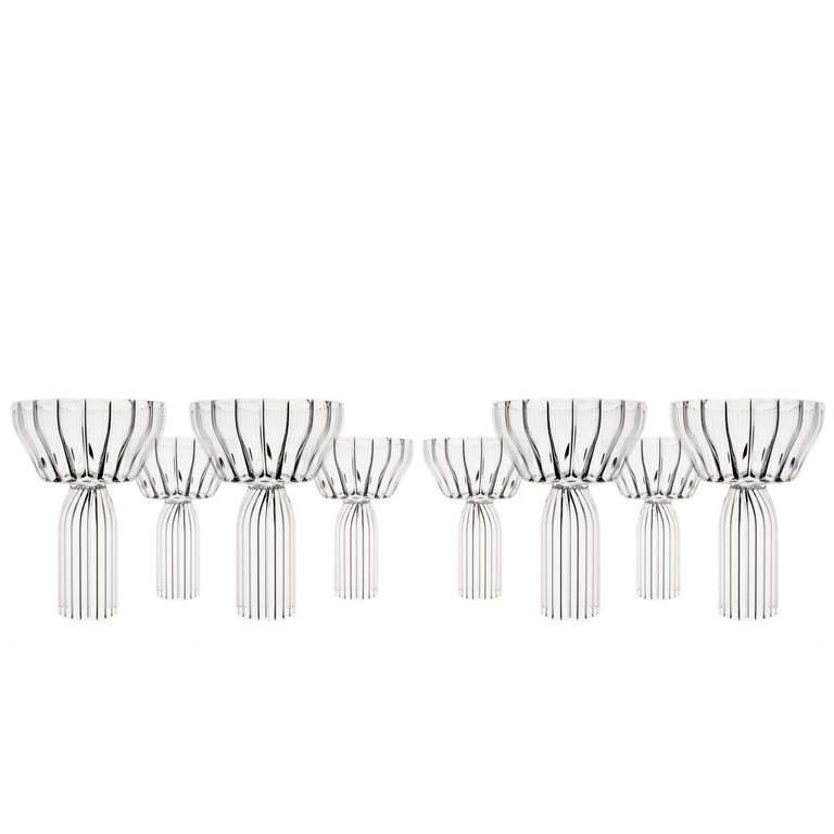 Eight Margot Champagne Coupe Glasses by fferrone, Czech Republic - In Stock 1