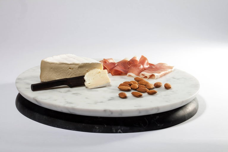 Contemporary Handcrafted Italian Marble Serving Tray Board
