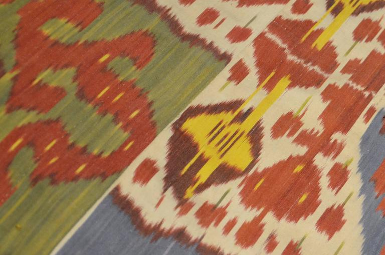 Textile Ikat of the mid-20th century copying designs from the Uzbek fabrics of the 17th-19th centuries. These textiles are very rich both in ethnic designs and in the colorful so rich employee. Handmade textile following ancient Ikat. Measures of