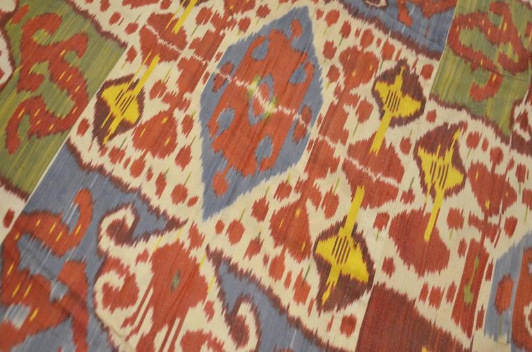 Suzani Ikat Textile Uzbekistan Region, Mid-20th Century with Typical Ikat Designs For Sale