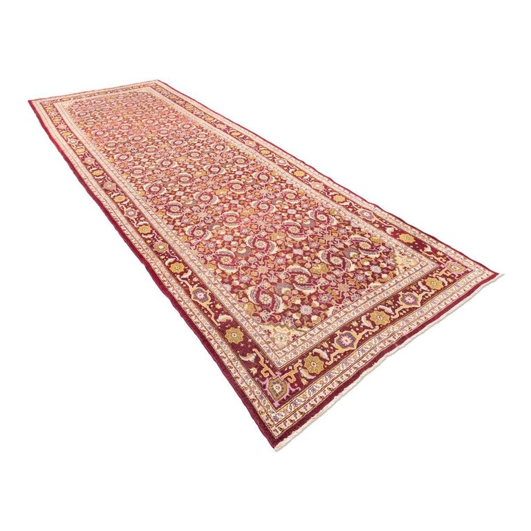 Antique Cotton Agra Rug With Abrash Circa 1900 For Sale: Agra Carpet, Circa 1900 For Sale At 1stdibs