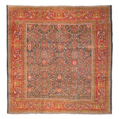 Late 19th Century, Antique Rug. Ziegler Sultanabad Persian, circa 1890.