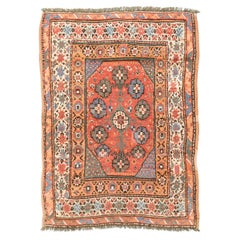 20th Century, Turkish Bergama Wool Rug. Ethnic, Trees and Flowers Design