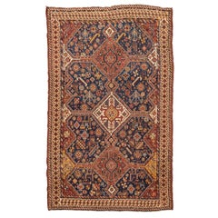 19th Century Wool Rug, Kasghay Kasculi Tribal Design, circa 1890