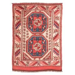 20th Century Wool Rug, Caucasian Melas Geometric Design, circa 1940