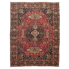 Beginning of the 20th Century Persian Wool Rug, Khorassan, Medallion Design