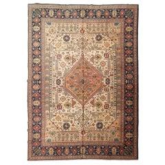 20th Century Persian Wool Rug, Tabriz Design, circa 1920