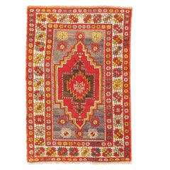 20th Century Turkish Wool Rug Anatolia Geometric Design, circa 1920