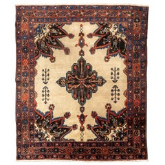 20th Century, Persian Wool Rug, Afshar with Ethnic Design, circa 1900