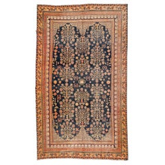 19th Century, Antique Wool Rug, Samarkand Design, circa 1880