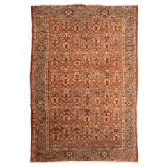 19th Century Persian Wool Rug, Mahal Design circa 1900