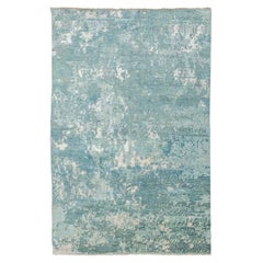 Contemporary Rug, Abstract Design, Soft Colors