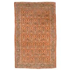 19th Century, Persian Wool Rug, Mahal Design.