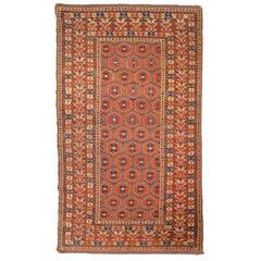 19th Century, Turkestan Oriental Wool Rug, Beshir Design, circa 1880