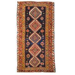 20th Century Antique Wool Rug, Kazak with Geometric Design, circa 1900