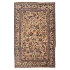 20th Century Antique Wool Rug, Tabriz Design, circa 1900