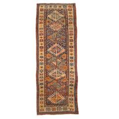 19th Century Caucasus Wool Rug, Antique Kazak, circa 1890