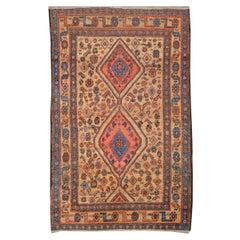 20th Century Ethnic Bidjar Persian Rug, Tribal Design, circa 1920
