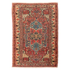 Early 20th Century, Persian Wool Rug. Serapy, Rossette Design, circa 1900