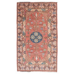 20th Century Samarkand Rug, Design of Flowers and Branches, circa 1920